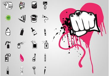 Graffiti Icons - vector gratuit #157539