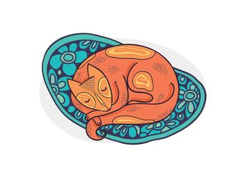 Free Vector Sleeping Cat - Free vector #157559