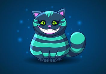 Cheshire Cat Vector from Alice in Wonderland - Free vector #157589