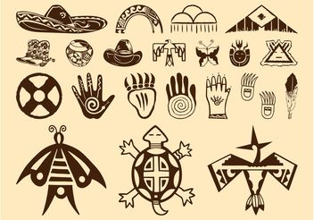 Native American Symbols - vector #157679 gratis