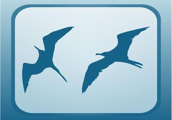 Flying Seagulls - vector gratuit #157719