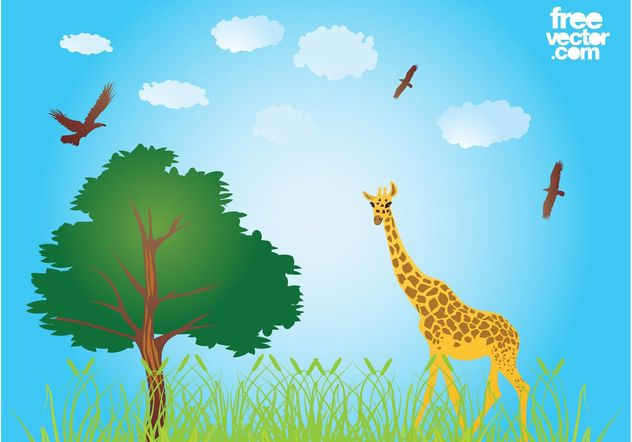 African Nature - vector gratuit #157739