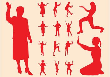 People Silhouette Set - vector #157819 gratis
