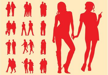 People In Couples Graphics - бесплатный vector #157939