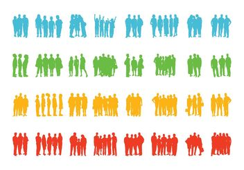 Groups Of People - vector gratuit #157969