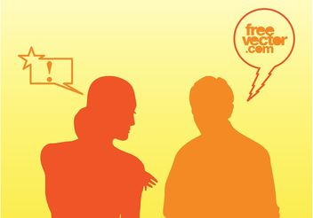 Talking People Vector - vector #158009 gratis