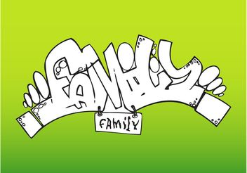 Family Graffiti - vector gratuit #158029