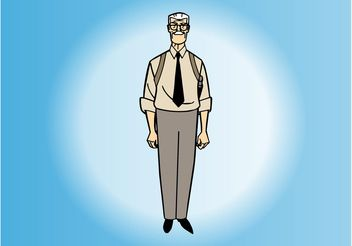 Cartoon Old Man - vector gratuit #158059