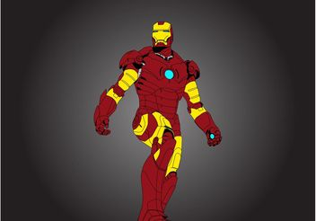 Iron Man Vector - vector gratuit #158079