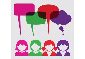 People With Speech Bubble Vector Background - vector #158099 gratis