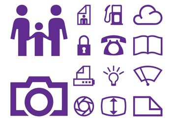 Icons Pack Graphics - Free vector #158159