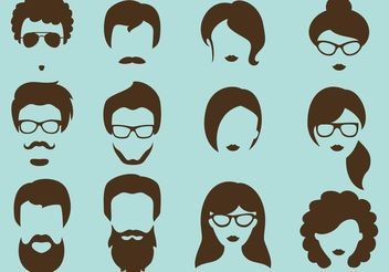Hipster Vector Silhouettes - Kostenloses vector #158169