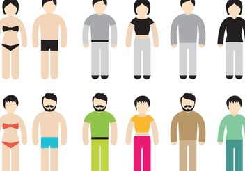 Colorful Stick Figure Vectors - Free vector #158199