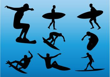 Surfers - Free vector #158249