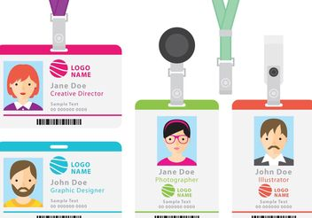 Identification Cards - vector #158319 gratis