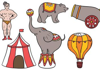Free Vintage Circus Elements - vector gratuit #158339