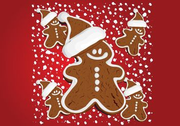 Christmas Gingerbread - vector gratuit #158359