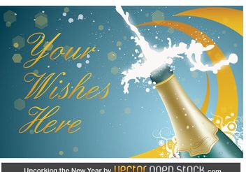 New Year Champagne - Free vector #158369