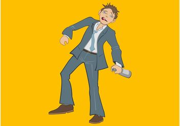 Drunken Man - vector #158389 gratis