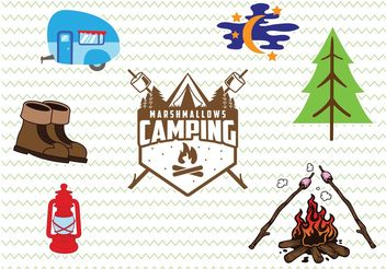 Camp Badges and Icons - Free vector #158459