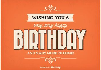 Retro Style Birthday Poster - vector gratuit #158469