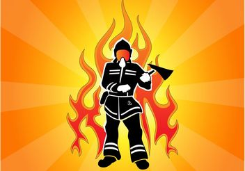 Firefighter Flame Graphic - vector gratuit #158549