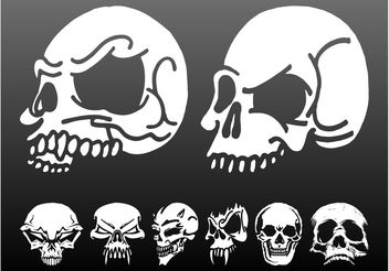 Skulls Vector Graphics Set - Free vector #158669