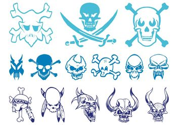 Skulls Graphics Set - Free vector #158689