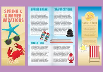Vacations Brochure Template Vectors - бесплатный vector #158699