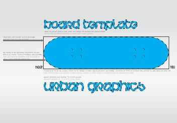 Board Template - vector #158709 gratis