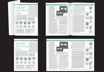 Technology Magazine Layout - vector gratuit #158729