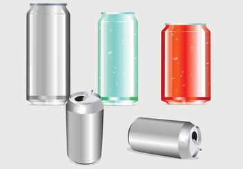 Soda Can Template - бесплатный vector #158789