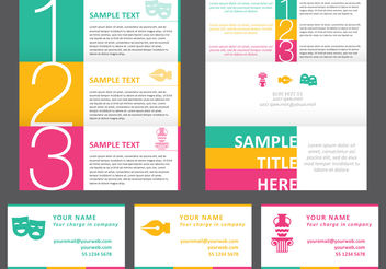 Bright Horizontal Brochure - Free vector #158799