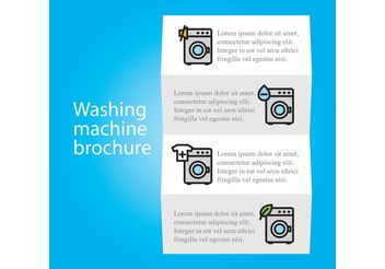 Wash Machine Brochure Vector Template - Free vector #158809