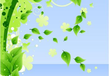 Leaves Layout - vector gratuit #158869
