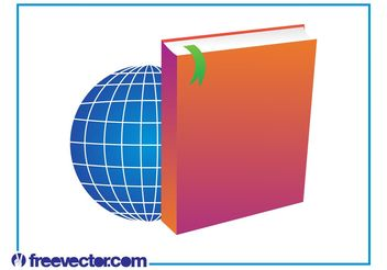Book And World Layout - vector gratuit #158889