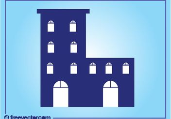 Stylized Building Layout - Free vector #158899