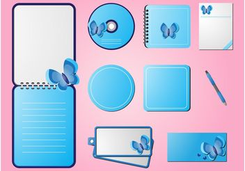 Spring Stationery - Free vector #158929
