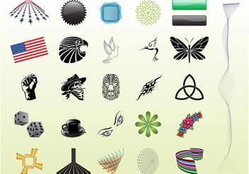Colorful Icons - vector gratuit #158959