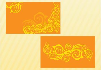 Swirls Vector Cards - Kostenloses vector #159119