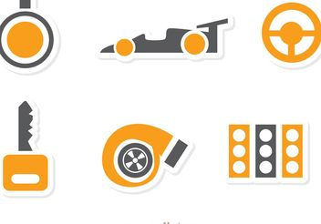 Racing Icon Vector Pack 2 - vector #159149 gratis