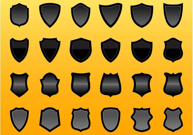 Shield Vector Graphics Set - vector gratuit #159159