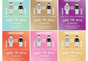 Marriage Invitation Templates - vector gratuit #159169