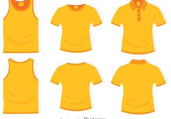 Clothes Template - vector #159179 gratis