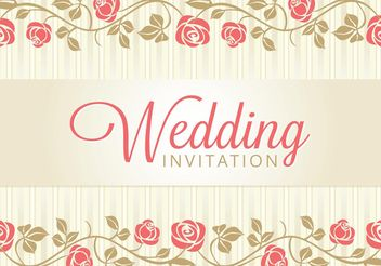 Wedding Card Invitation - vector gratuit #159189
