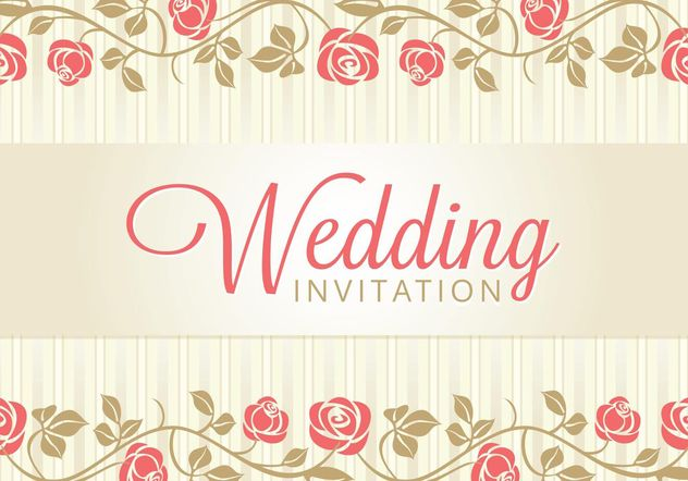 Wedding Card Invitation - Free vector #159189