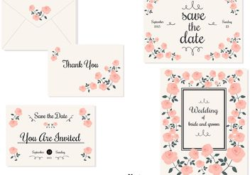 Wedding Invitation Cards - Free vector #159429