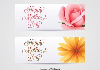 Mother's Day Banners - vector gratuit #159449