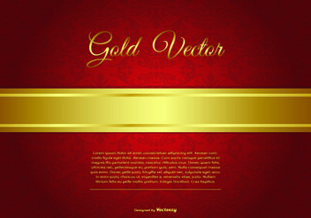 Elegant Gold and Red Background Illustration - vector #159499 gratis