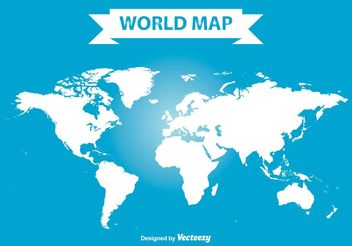 Vector World Map - Kostenloses vector #159549